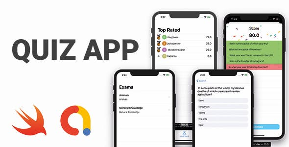 QuizApp Full iOS Application