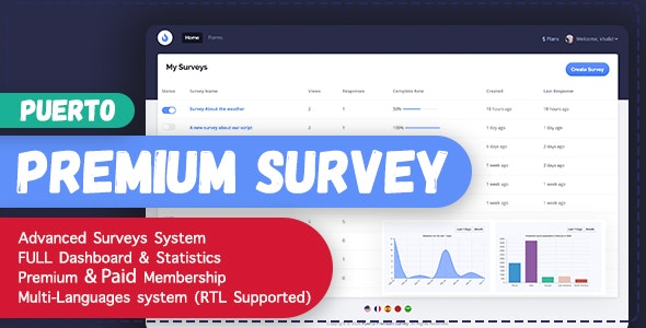 Puerto Premium Survey Builder - CodeCanyon Item for Sale