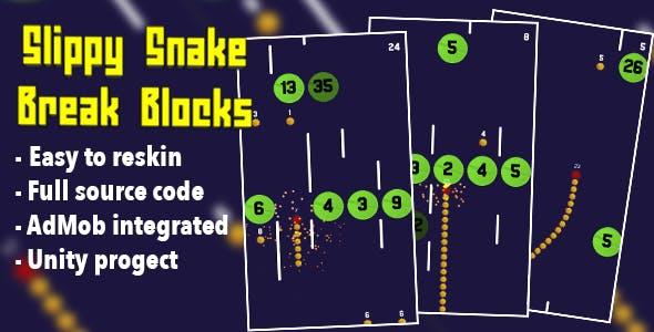 Slippy Snake Break Blocks - Hyper Casual Game