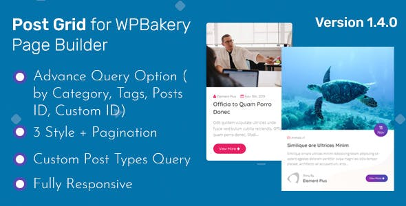 Post Grid - Addon WPBakery Page Builder (Formerly Visual Composer)