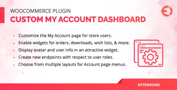 WooCommerce User Dashboard - Custom My Account Page