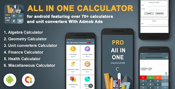 Android Calculator App- All In One Calculator(Algebra, Geometry, Finance, Health, etc..)
