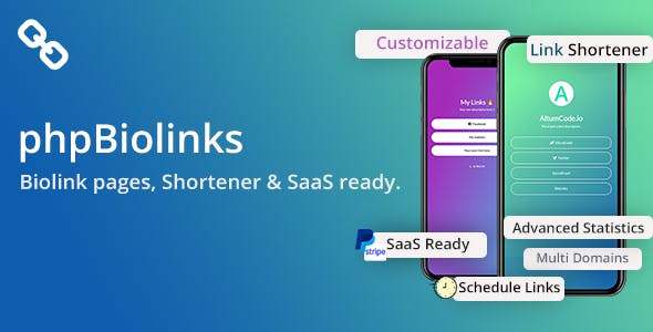 BioLinks - Instagram & TikTok Bio Links & URL Shortener (SAAS Ready)