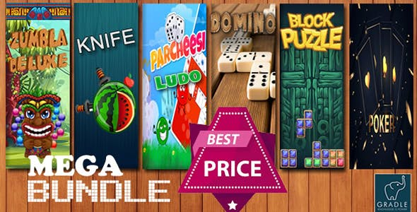 Bundle 7 GAMES - Gradle (Admob + GDPR + Android Studio)