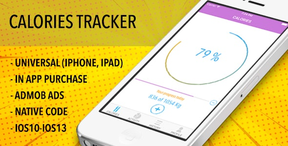 Easy Calories Tracker - Universal IOS App - CodeCanyon Item for Sale