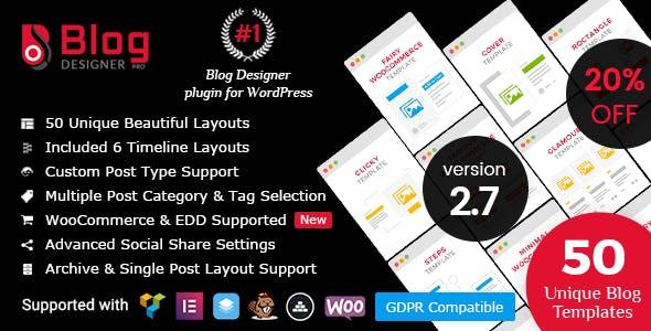 Blog Designer PRO for WordPress