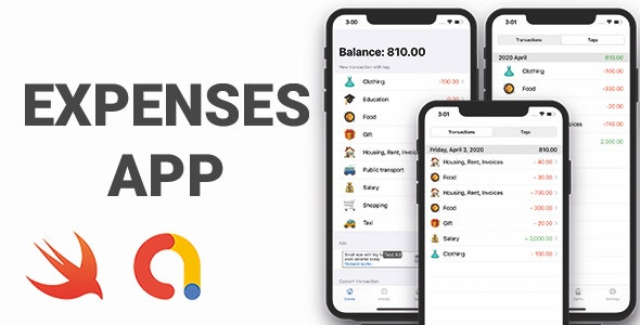 Expenses App | Full SwiftUI iOS Application - CodeCanyon Item for Sale