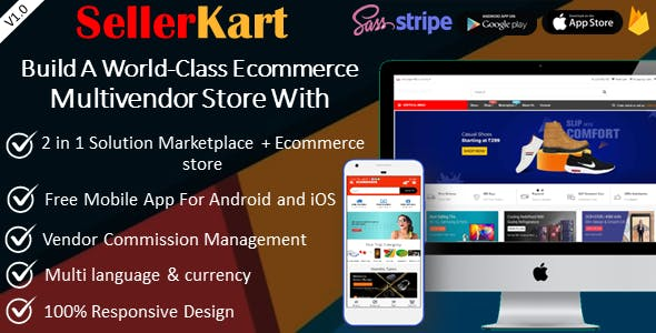 SellerKart - Multivendor / Single E-commerce System with Free Android & iOS App