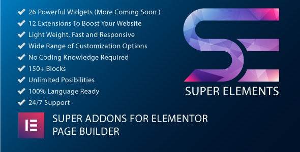 Super Elements - Addons for Elementor - CodeCanyon Item for Sale