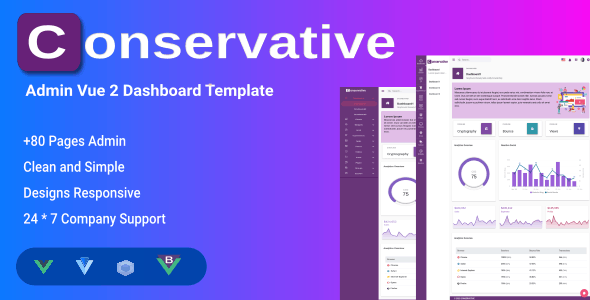 Conservative - Vuejs Admin & Dashboard Templates