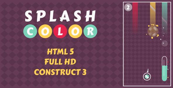 Splash Color - HTML5 Game (Construct3)