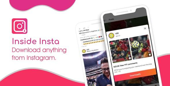 Inside Insta - Instagram video Downloader & instagram Dp Downloader - CodeCanyon Item for Sale