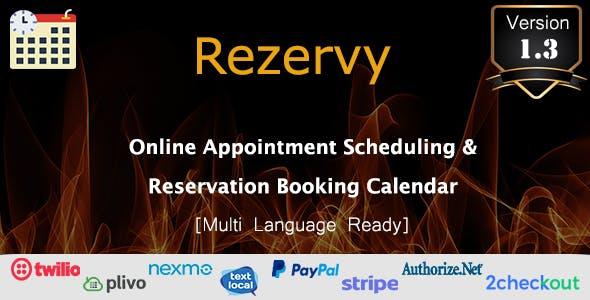 Rezervy - Online Appointment Scheduling & Reservation Booking Calendar