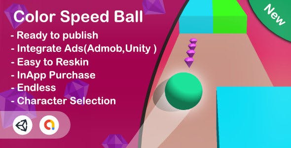 Color Speed Ball 3D (Unity Complete+Admob)