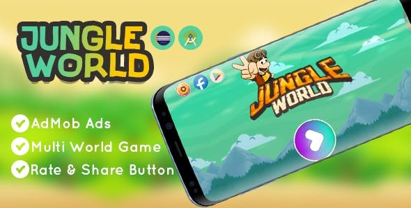 Jungle World Game | Eclipse & Android Studio | AdMob Ads | Games