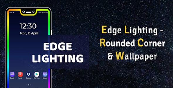 Edge Lighting - Rounded Corner & Wallpaper With Facebook & Admob Integration