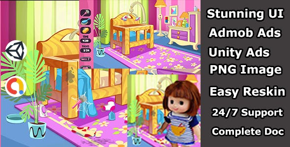 Clean baby care unity source code arcade 3d game