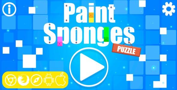 Paint Sponges Puzzle - HTML5 Game