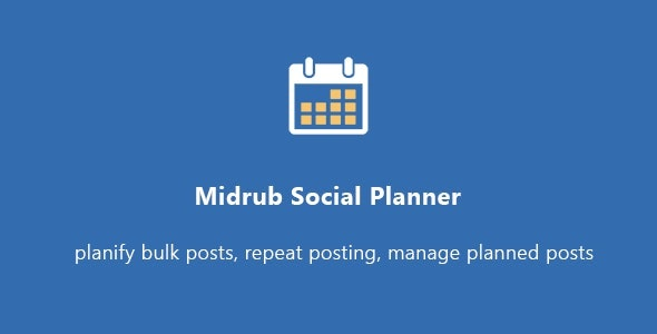Midrub Social Planner - planify your social life - CodeCanyon Item for Sale