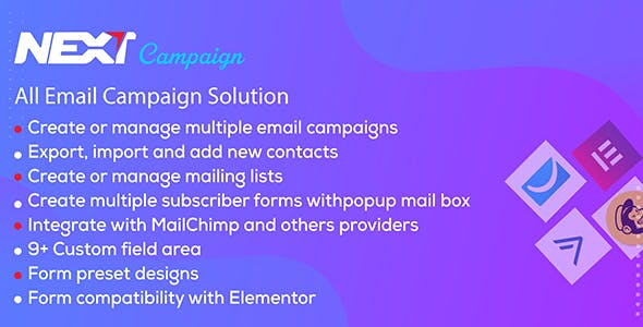 Next Campaign - Manage Contacts / Email Marketing / Subscribe for WordPress Plugin