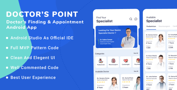 Doctor's Point - Android Doctor's Finding and Appointment Template