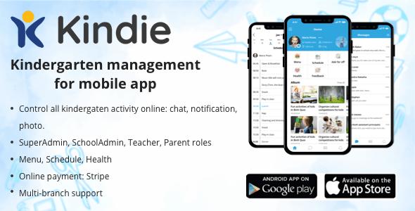 Kindie App - Multi branch kindergarten management mobile app