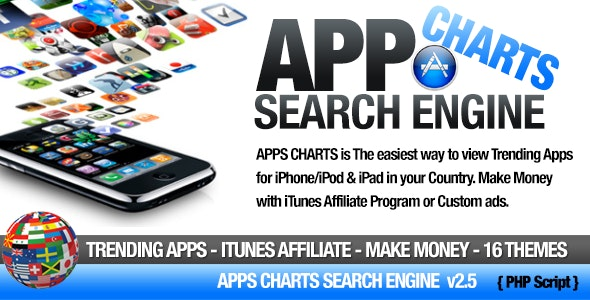 Apps Charts iTunes Search Engine - CodeCanyon Item for Sale