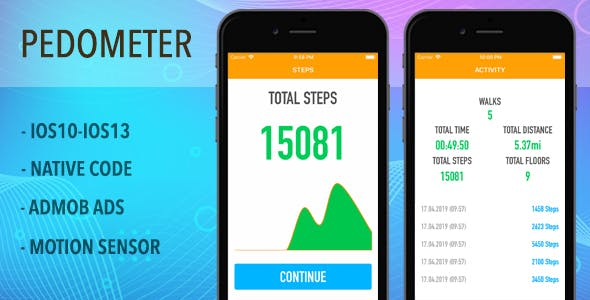 Pedometer and Step Counter - IOS Full App Code