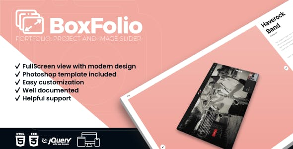 BoxFolio | Project, Portfolio and Image Slider Plugin