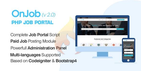 OnJob - PHP Job Portal Application - CodeCanyon Item for Sale