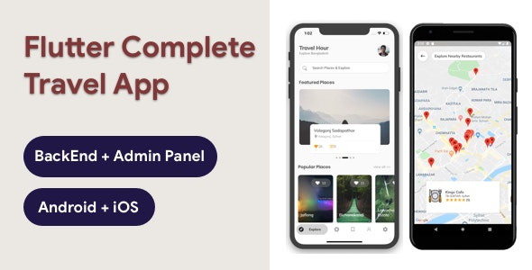 Flutter Travel App with Admin Panel - Travel Hour - CodeCanyon Item for Sale