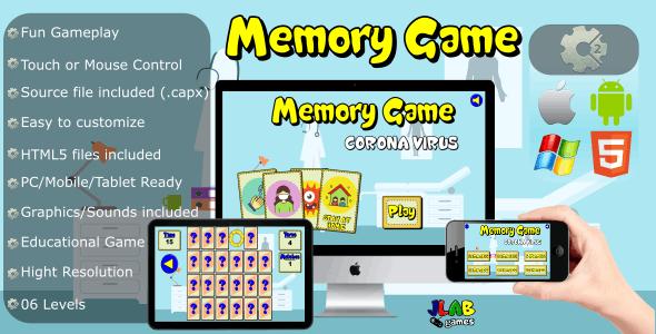 Memory Game Coronavirus - CAPX and HTML5 Files
