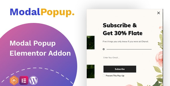 Modal Popup box Elementor Addon - CodeCanyon Item for Sale