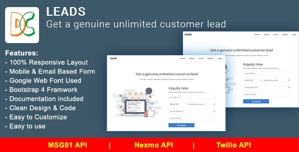 LEADS - Get a Genuine Unlimited Customer Lead - CodeCanyon Item for Sale