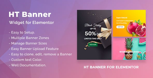 HT Banner for Elementor