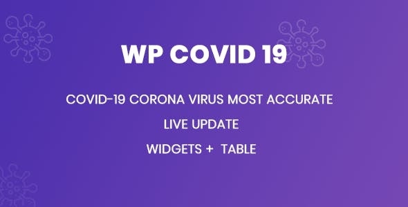 WP Covid 19 -  Coronavirus Live Statistics for WordPress