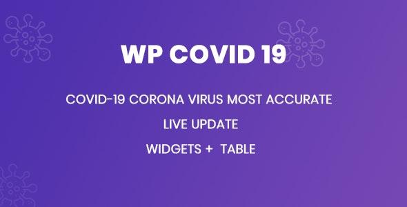 WP Covid 19 -  Coronavirus Live Statistics for WordPress - CodeCanyon Item for Sale