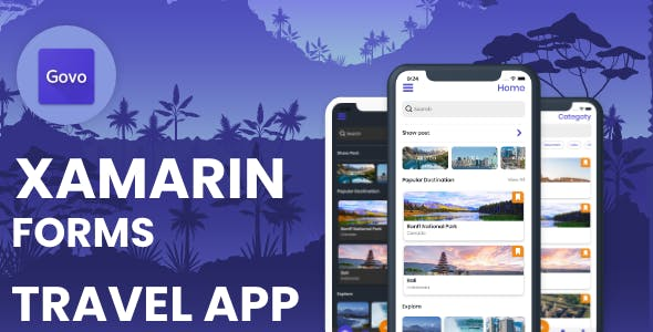 Govo Travel Application - Xamarin Forms (Android & iOS)