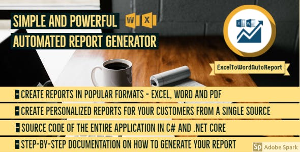 Report generator - Excel to Word and PDF - .NET and C# source code - ExcelToWordAutoReport