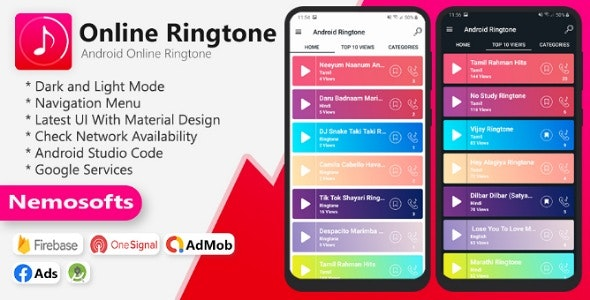 Android Online Ringtone - CodeCanyon Item for Sale
