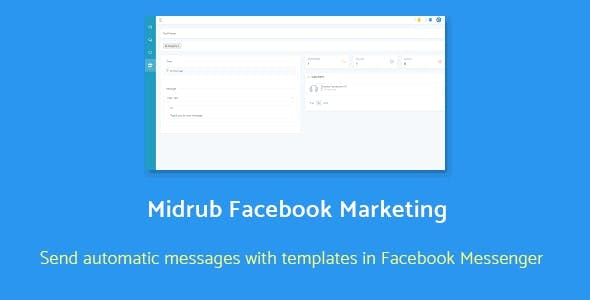 Midrub Facebook Marketing - automatize and send promotional messages with templates in Messenger