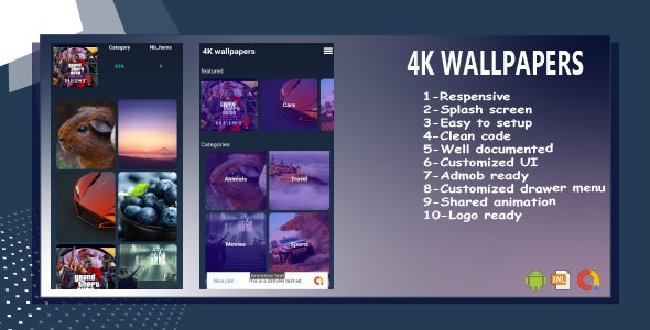 Android Wallpapers 4k Template UI - CodeCanyon Item for Sale