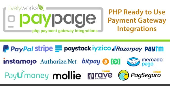 PayPage - PHP ready to use Payment Gateway Integrations