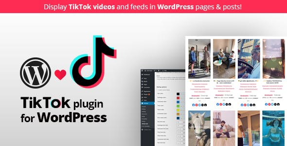 TikTok feed plugin for WordPress