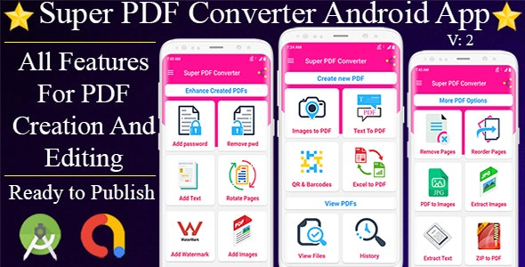Super PDF Converter Android App - Professional PDF Editor And ...