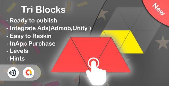 Tri Blocks Puzzle(Unity Complete Game+Admob+iOS+Android)