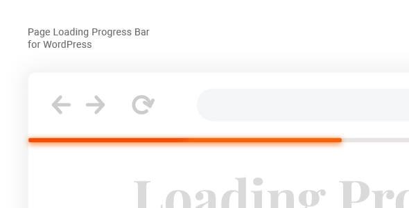 Page Loading Progress Bar for WordPress – Laser - CodeCanyon Item for Sale
