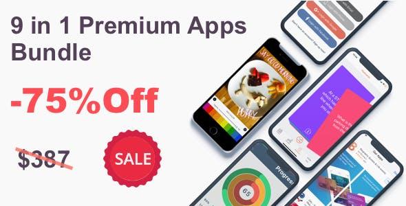 9 in 1 Source Code Bundle Of Premium Apps