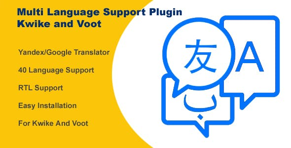 Multi Language Support Plugin For Kwike and Voot