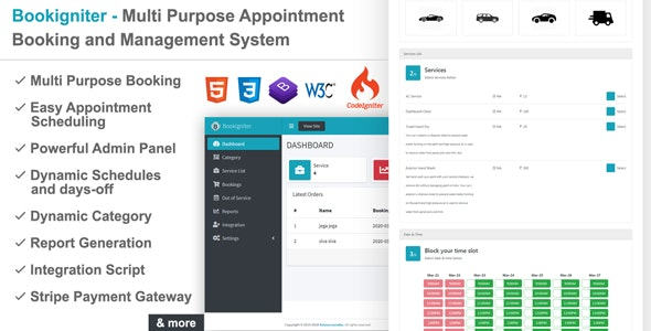 Bookigniter - Multi Purpose Appointment Booking and Management System - CodeCanyon Item for Sale